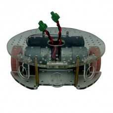 Round Smart Car Chassis Mobile Robot Platform Tricycle with Speed Sensor