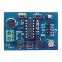 ISD1820 Sound/Voice Recording Playback Recorder Module Board Microphone 3V-5V