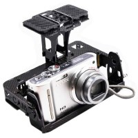 X-CAM CM140 Carbon Fiber Tilt/Pan 2-Axis Camera Mount for FPV
