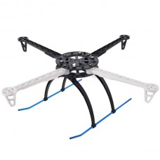 HJ600 Anti-Wind Copter Frame Multi Quadcopter Airframe w/Tall Landing Skid-White+Black