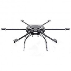 Skyknight 600-850mm Carbon Fiber HexCopter Folding Frame Aircraft Kit w/ Security Case
