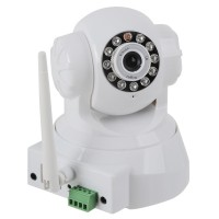 IR Night Version Wireless IP Camera PT with Antenna Strong WiFi Singal-White