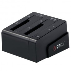 "ORICO 6628SUS3-C 2 Bay 2.5""&3.5"" SATA HDD Docking Station+USB3.0/2.0+eSATA-Black"