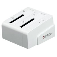 "ORICO 6628SUS3-C 2 Bay 2.5""&3.5"" SATA HDD Docking Station+USB3.0/2.0+eSATA-White"