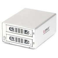 ORICO 3529RUS3 2bay USB3+eSATA RAID Professional HDD Enclosure Support 6TB-Silver