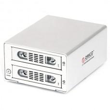 ORICO 3529RUS3 2bay USB3+eSATA RAID Professional HDD Enclosure Support 6TB-Silver
