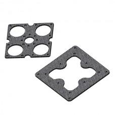 Carbon Fiber PTZ Anti-vibration Board Set Compatible with Rubber Damper