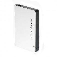 Orico 2598sus3 2.5 inch Aluminum USB3.0 & eSATA HDD Hard Drive External Enclosure-Silver