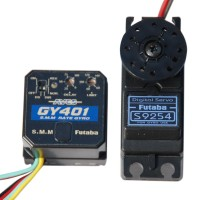 Futaba AVCS GY401 Gyro with S9254 Digital Tail Rudder Servo Set FUTM08