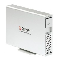 "ORICO 7619ES3 3TB 3.5"" SATA USB3.0 AES Encryption External HDD Enclosure Dock-Silver"