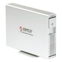 "ORICO 7619SUS3 3TB 3.5"" e-SATA USB3.0 Hard Drive External HDD Enclosure Dock-Silver"