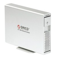 "ORICO 7619US 3.5"" SATA USB 2.0 HDD External Enclosure Support 3TB SATA3-Silver"