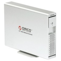 ORICO 7619SUS 3.5' SATA HDD External Enclosure + USB 2.0 ESATA Independent Power-Silver