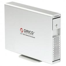 ORICO 7619SUS 3.5' SATA HDD External Enclosure + USB 2.0 ESATA Independent Power-Silver