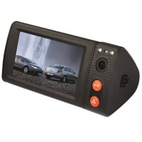 "P7 3.0"" Inch HD Dual Camera Car DVR Vehicle Dash Dashboard with GPS G-sensor"