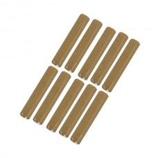10pcs M3 x 14mm Brass Pillar Hex Spacer Female/Female Inner Thread
