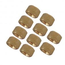 10pcs M3 x 5mm Brass Pillar Hex Spacer Female/Female Inner Thread