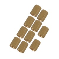 10pcs M3 x 7mm Brass Pillar Hex Spacer Female/Female Inner Thread