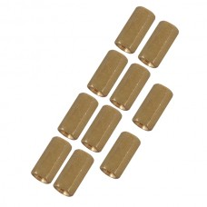 10pcs M3 x 8mm Brass Pillar Hex Spacer Female/Female Inner Thread
