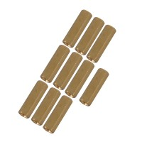 10pcs M3 x 10mm Brass Pillar Hex Spacer Female/Female Inner Thread
