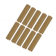 10pcs M3 x 11mm Brass Pillar Hex Spacer Female/Female Inner Thread