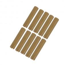 10pcs M3 x 12mm Brass Pillar Hex Spacer Female/Female Inner Thread