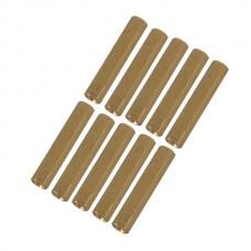 10pcs M3 x 13mm Brass Pillar Hex Spacer Female/Female Inner Thread