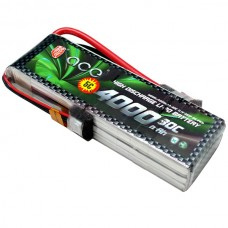 Gens ACE 4000mAh 11.1V 30C 3S1P Lipo Battery Pack for Heli Multi-Copter