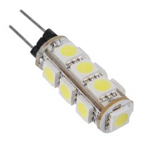 Energy Saving Pure White G4 13 LEDs 5050 SMD LED RV Boat Light Lamp Bulb 12v