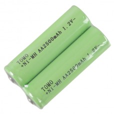 2pcs Tomo AA2500mAh 1.2V  Rechargeable Ni-MH Battery AA Battery