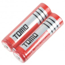 2PCS TR18650 18650 2400mAh 3.7V Rechargeable Li-ion Battery