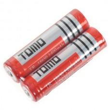 2PCS TR18650 18650 1400mAh 3.7V Rechargeable Li-ion Battery