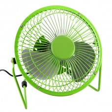 6 inch USB Adjustable Mini Metal Fan For PC Laptop Computer Super Mute-Green