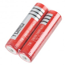 2PCS TR18650 18650 1600mAh 3.7V Rechargeable Li-ion Battery