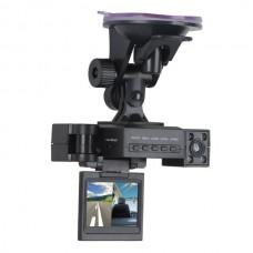 Mini Dual Rotatable Lens Vehicle Camera Car Black Box DVR Dashboard