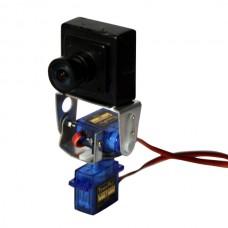 Silver Warrior Metal Pan/Tilt Camera Platform Anti-Vibration Camera Mount for Aircraft FPV