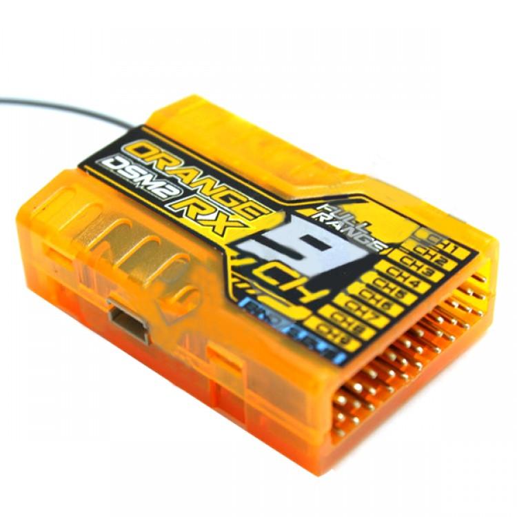 OrangeRx Spektrum DSM2 9Ch 2 4Ghz Receiver TwinPort Compatible JR