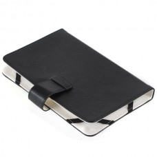 Folio Stand Leather Case Cover for 7' Tab Tablet-Black