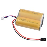 LiFe Battery Pack Po4 26650PRO 6.4V 2500mAh 20C 2S1P for RC Boat Airplane