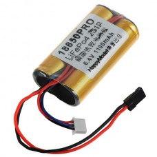 LiFe Battery Pack Po4 18650PRO 6.4V 1100mAh 25C 2S1P for RC Boat Airplane