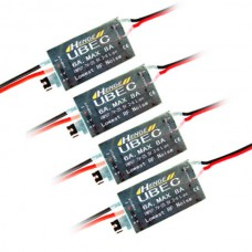 HENGE 5v/6v 6A/8A 2-6S LIPO/ 6-16 Cell Ni-Mh Input Switch Mode UBEC BEC 4-Pack