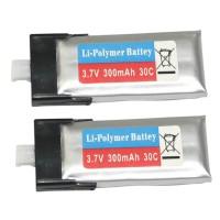 HISKY FBL100 Li Battery 800024 mcpx Battery 3.7V 300mAh 30C 2-Pack