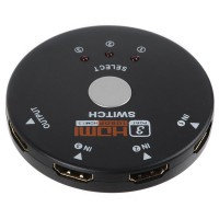 3 Port HDMI Switch Switcher Splitter Hub for 1080P HDTV HD DVD