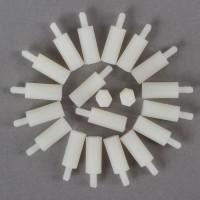 20pcs M3 6 + 22mm Plastic Nylon Pillar Hex Spacer Male/Female