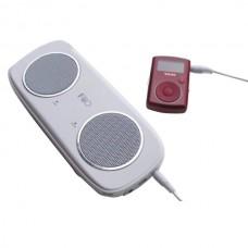 White FiiO S3 Elegant Portable 2.4 Watt Stereo Speaker With SD Card Slot