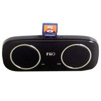 Black FiiO S3 Elegant Portable 2.4 Watt Stereo Speaker With SD Card Slot