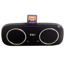 Black FiiO S3 Elegant Portable 2.4 Watt Stereo Speaker With SD Card Slot