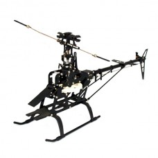 450 Fiber Body Helicopter Metal Upgrade RC KIT-Black
