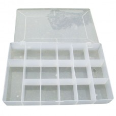 17 Slots Storage Box 275mmx180mmx38mm Transparent Plastic Case