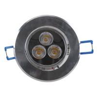 3W LED Ceiling Down Bulb Spot Light Adjustable Recessed Lamp 85-260V 300lm-Warm White